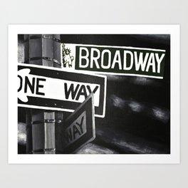 One Way to Broadway Art Print
