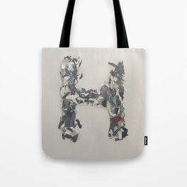 Letter H in Paint Tote Bag