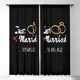 50th Wedding Anniversary Gift Just Married Marriage Blackout Curtain