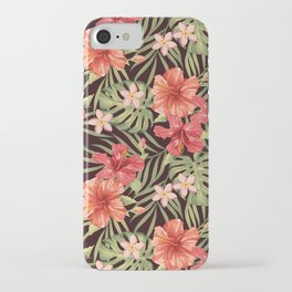 Painterly Hibiscus iPhone Case