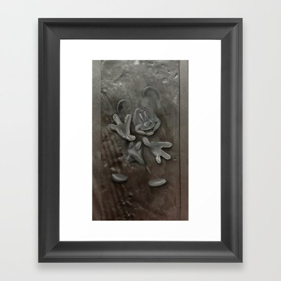 Mickey in Carbonite Framed Art Print
