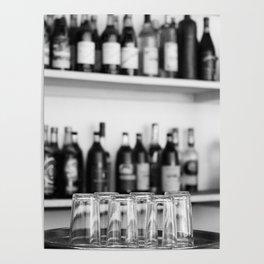 Liquor bottles Poster