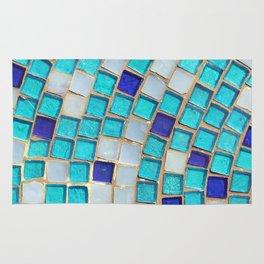 Blue Tiles - an abstract photograph. Rug