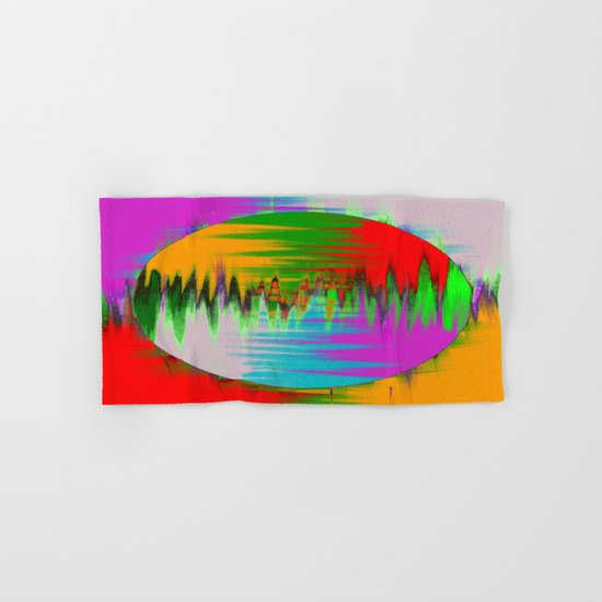 Colour Interference - Abstract colour painting Hand & Bath Towel
