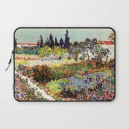 Vincent Van Gogh Flowering Garden Laptop Sleeve