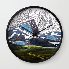 Tv island Wall Clock