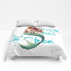 Mermaid: Let the sea set you free Comforters