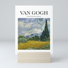 Van Gogh - Wheatfield with Cypresses Mini Art Print