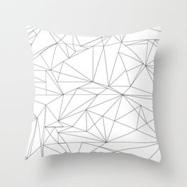 spidery triangle collage Throw Pillow