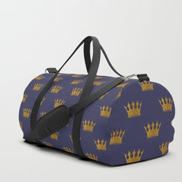 Mini Gold Crowns on Royal Blue Duffle Bag