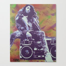 M.I.A. Hip Hop life,  modern graffiti stencil art painting Canvas Print