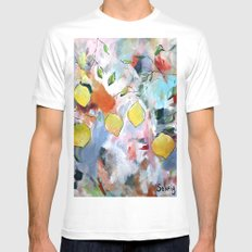 When Life Gives You Lemons, Paint Them Mens Fitted Tee MEDIUM White