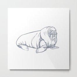 Sea Animals Series 1 Metal Print