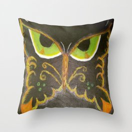 Scowl Fly Throw Pillow