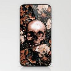 SKULL AND FLOWERS II iPhone & iPod Skin
