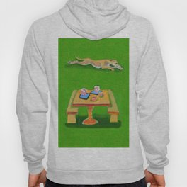 Greyhound Spirit, an Animal Spirit painting Hoody