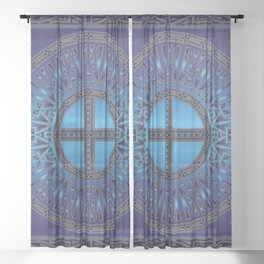 The Ancestors (Dragonfly) Sheer Curtain