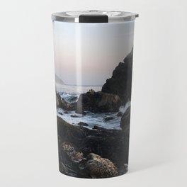 Crashing Waves at Dusk on a Big Sur Beach Travel Mug