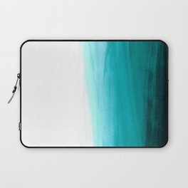 Ombre background in turquoise Laptop Sleeve