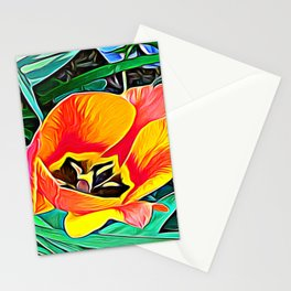 Flower in Expressive Birth Stationery Cards