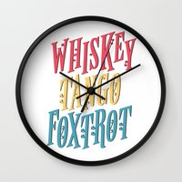 whiskey Wall Clocks featuring Whiskey Tango by northside