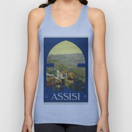 Vintage poster - Assisi Unisex Tank Top