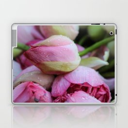 Big Closed Lotos Flower pink Photography Laptop & iPad Skin