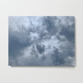 Fifty Shades of Grey Clouds | Nature Photography Metal Print