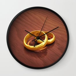 Wedding vows Wall Clock