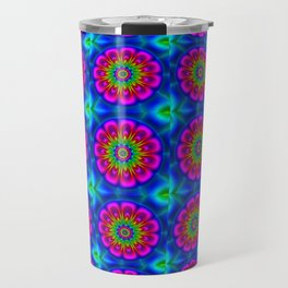Flower  rainbow-colored Travel Mug