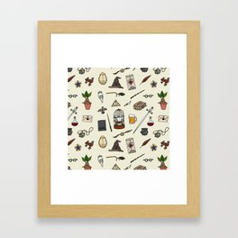 Harry pattern Framed Art Print
