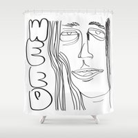 weed Shower Curtains featuring Weed by ESP.