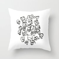 talking heads Throw Pillows featuring Talking Heads by Melanie Carter
