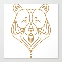 Gold Bear Two Canvas Print