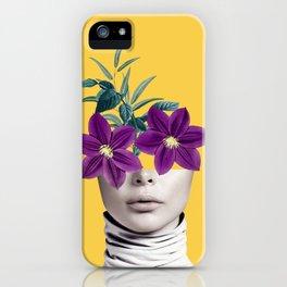 Floral Portrait 2 iPhone Case