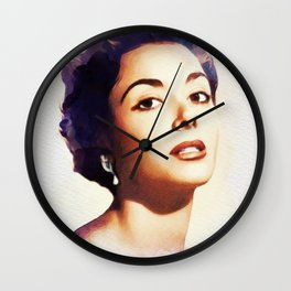 Dana Wynter, Movie Legend Wall Clock