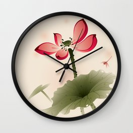 Oriental Lotus 001 Wall Clock