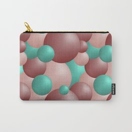Pink and green balls Carry-All Pouch