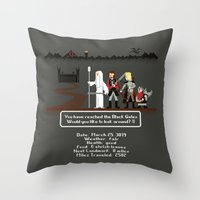 aragorn Throw Pillows featuring Aragorn Trail by Drew Brockington