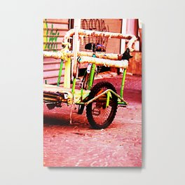 Urban Bike Trolley Metal Print