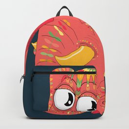 colorful Indian elephant and mouse Backpack