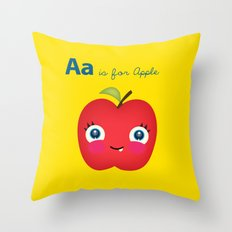 A is for Apple Throw Pillow