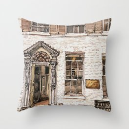 SOLICITORS, Kings Parade, Cambridge, UK Throw Pillow