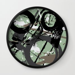 Enso Groove F by Kathy Morton Stanion Wall Clock