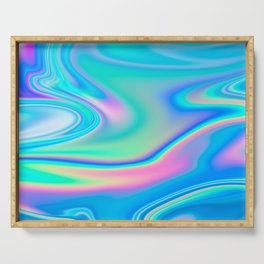 Holographic Iridescent Chill Vibes Serving Tray
