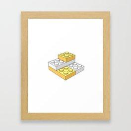 Bricks - Yellow Framed Art Print