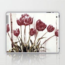 tulips della finestra - floral still life Laptop & iPad Skin