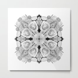 Floral Fixation Metal Print