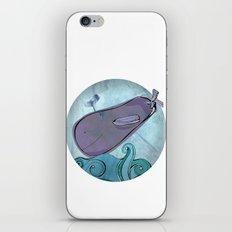 Eggplant Whale iPhone & iPod Skin