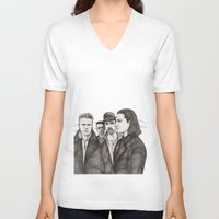 u2 V-neck T-shirts featuring Joshua Tree by Paul Nelson-Esch Art